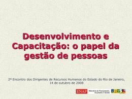 Formação de dirigentes - Governo do Estado do Rio de Janeiro