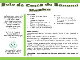 Bolo de Casca de Banana NANICA