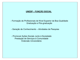Unesp - Função Social