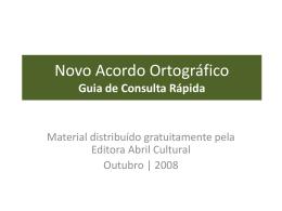Novo Acordo Ortográfico Guia de Consulta Rápida