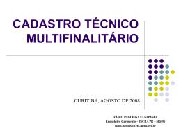 CADASTRO TÉCNICO MULTIFINALITÁRIO