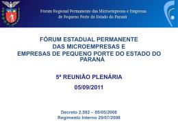 Ações Realizadas - Fórum Permanente das Microempresas e Empresas