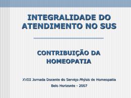 prhoama - sus- bh - Serviço Phýsis de Homeopatia