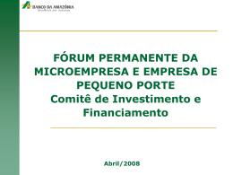 Apresentação 48ª Banco da Amazonia