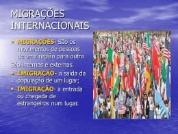 MIGRAÇÕES INTERNACIONAIS - vp-vpp