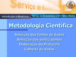 Metodologia Científica na Investigação Clínica