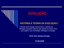 Teorias Evolutivas I