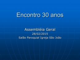 Encontro 30 anos - Amigos do Santa Teresa – 1985