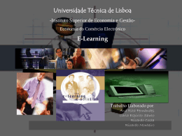 E-Learning - projecto 5º ano