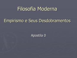 Idade Moderna Filosofia