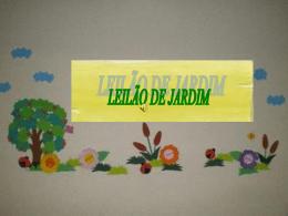 LEILÃO DE JARDIM Apresentação Cleris