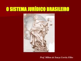 SISTEMA JURÍDICO BRASILEIRO 1. Características