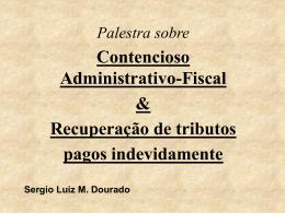 Apresentação Sergio Dourado