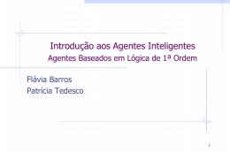 Agentes baseados em Lógica de 1ª Ordem