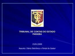 processo eletrônico - Tribunal de Contas do Estado da Paraíba