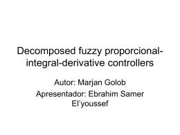 Decomposed fuzzy proporcional-integral