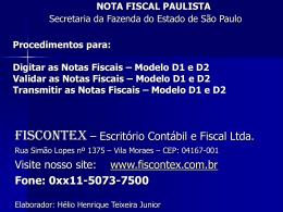 Envio de Notas Fiscais Modelo 2