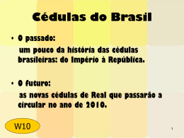 Cédulas do Brasil