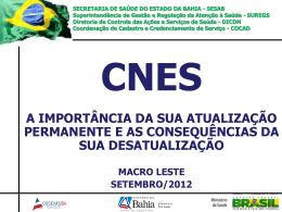 CNES - Secretaria da Saúde