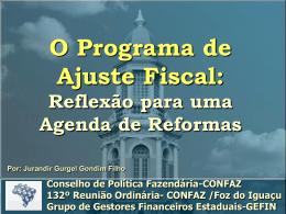 O Programa de Ajuste Fiscal