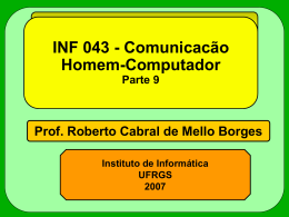INF043 - Interface Gráfica - Instituto de Informática