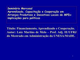 6 - Instituto de Economia da UFRJ