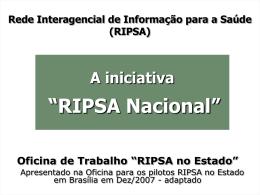 Ministério da Saúde Organização Pan-Americana da Saúde