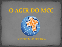 O Agir do MCC - WordPress.com