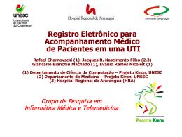 Registro Eletrônico para Acompanhamento Médico de Pacientes