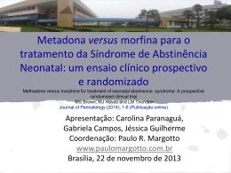 Metadona versus morfina para o tratamento da Síndrome de