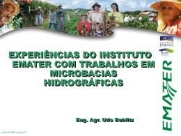 Palestra Trabalhos em microbacias hidrográficas