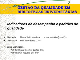 gestão da qualidade em bibliotecas universitárias