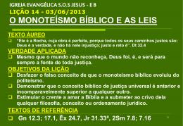 O monoteísmo bíblico e as leis.