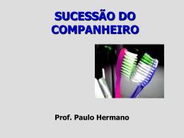 Sucessão do companheiro - Professor Paulo Hermano