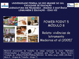Power Point 5 - pead.faced.ufrgs.br