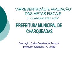 2º Quadrimestre - Prefeitura de Charqueadas