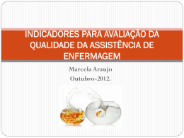 indicadores para avaliação da qualidade da assistência de