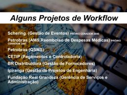 Etapas do workflow