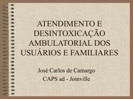 atendimento e desintoxicação ambulatorial dos usuários e familiares