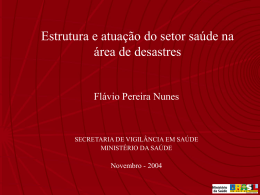 O papel do setor saúde na área de desastres naturais e tecnológicos