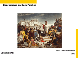 Accountability - Coprodução de Bens e Serviços Públicos