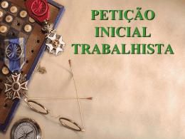 PRÁTICA DE ADVOCACIA TRABALHISTA