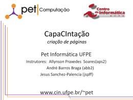 Capacintação1 - Centro de Informática da UFPE