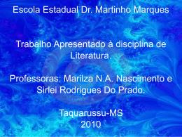 slide de Literatura - Joa Pedro e Edson