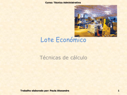 Lote Económico - pradigital-paulacrisalexandre
