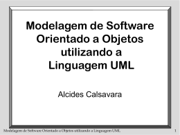 Modelagem de Software Orientado a Objetos utilizando a