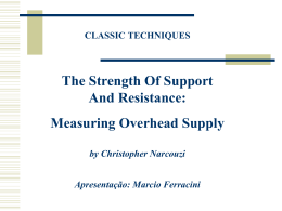 Artigo sobre Overhead Supply