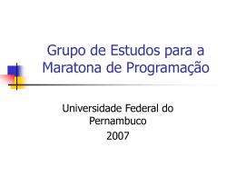 Maratona de Programação - Centro de Informática da UFPE