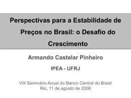 A Reform Agenda Armando Castelar Pinheiro