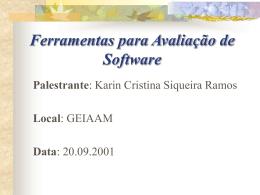 Ferramentas para Avaliação de Software